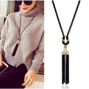Fheaven Women Necklaces Exquisite All Match Chain Tassel Sweater Long Chain Necklace