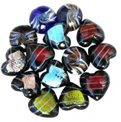 Murano Glass Pendants ~ Assorted Shapes & Sizes ~ 14 Pieces