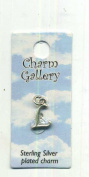 Letter L Charm Silver-plate Charm Gallery 1 mm Long