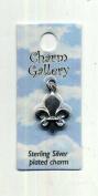 Fleur De Lis Charm 2mm Long Silver-plated Charm Gallery