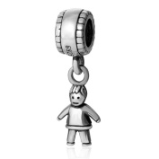 Little Boy Dangle Charm 925 Sterling Silver Dangle Bead for European Charm Bracelet