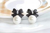 Bokeley Earrings,Jewellery Lady Fashion Style Bowknot Pearl Cute Vintage Stud Earrings
