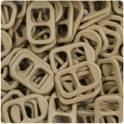 BEADTIN Khaki Brown Opaqye 25mm Plastic Soda Pop Tabs