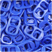 BEADTIN Royal Blue Opaqye 25mm Plastic Soda Pop Tabs