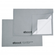 eBoot 2 Pack Large Jewellery Cleaning Cloths Polishing Cloth Sliver Polishing Cloth Solution for Silver, Gold, Platinum and Brass, 27cm x 18cm