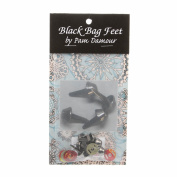 Black Bag Feet 1.3cm - 8/pkg by Pam Damour the Decorating Diva