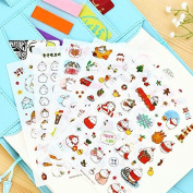 6pcs per sheet Cute Bunny Rabbit stickers for Scrapbooking Decor Decoration