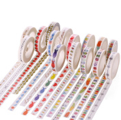 Doober 1 Roll 10m Hand Painted Washi Tape Scrapbooking DIY Craft Paper Sticky Sticker
