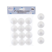 Mega Crafts 12 Pcs Poly Craft Foam 5.1cm Inch Ball | Durable, Solid Polystyrene Balls For Arts & Crafts, Ornaments, School Projects, Knitting & Party Favours | For Kids, Teachers & Artists