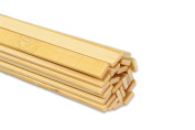 """15.5"""" Extra Long Wooden Craft Sticks. Flexible, Can be Made to Curve, Strong. Natural Bamboo. 48 Pieces."""