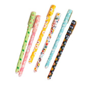Freedi 6PCS Creative Cartoon Lovely Pen 0.38mm Plastic Students Stationery Colourful Ink