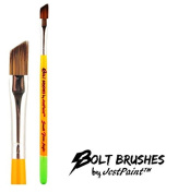 BOLT Face Painting Brushes by Jest Paint - Small FIRM Angle