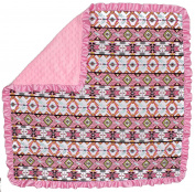 Dear Baby Gear Baby Blankets, Aztec Pink Hummingbird, Pink Minky