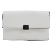 Essex Glam Women's Synthetic Leather Envelope Clutch Handbag