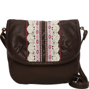 T-shirt & Jeans Washed Mini Flap Crossbody With Ribbon And Embroidery