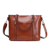 Casual Pu Leather Tote Shoulder Handbag for Women