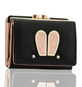 FXTXYMX Bunny Mini Wallets Rabbit Ear Coin Purse Card Holder for Girls and Women