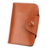 Aecibzo Leather Aluminium Wallet RFID Blocking Pocket Holder Credit Card Case