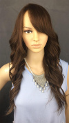 Wigstide Graceful Long Loose Wavy Natural Brown 4# colour 100% Human Hair Capless Wig