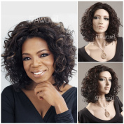Short Kinky Curly Wigs For Women Fashion Short Brown Afro Deep Curly Fluffy Cosplay Synthetic Wig By Grimm Hair
