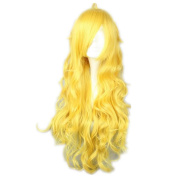 NiceLisa Wigs Long Yellow Long Wavy Manga Full New Synthetic Cosplay Wig