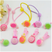 Casualfashion 20Pcs Candy Children Girls Lollipop Hair Rings Ties Baby Hair Accessories Hairpin Barrettes