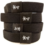 Hair Ties For Guys | Superior, No-Rip, No-Slip Hair Ties for All Hair Types | 'The Black Ties' Solid Black Collection