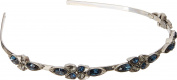 Oscar de la Renta Women's Teardrop Framed Crystal Headband Black Diamond Headband
