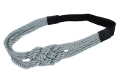 Making Waves Women's Nautical Rope Sailor's Knot Headband, Silver