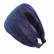 Raylans Women Wide Pleat Hair Band Headband Hoop Hair Accessories,Royal Blue