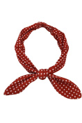 Liquorbrand 60's Lovely Red Polka dor Campus Elastic Headband