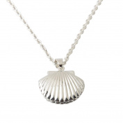 Fheaven Seashell Locket Pendant Silver Locket Silver Brass Sea Shell Necklace Gift