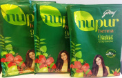 Godrej Nupur Henna Powder 9 Herbs Blend, 120-grammes X 3 packs
