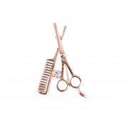 ShearsDirect Scissor/Comb Brooch, Gold, 10ml