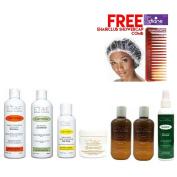 Etae Shampoo, Conditioner, Gloss, 2 E'tae Carmel Treatment, Nutrient, Buttershine Kit (7 items) w/ Free Cap w/ Free Tortoise Comb