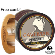 Handcrafted Caveman® POMADE FIRME (STRONG) HOLD Rockabilly 120ml + FREE Comb