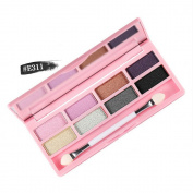 Newest trent 8 colours Eye Shadow Palette with Eye Shadow Brush Waterproof Eyeshadow Palette Shimmer Suitable for any style