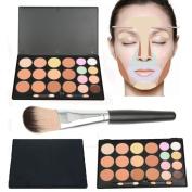 Mefeir Contour Kit 20 Colours Contour and Highlighting Contour Palette with 1 Pcs Foundation Brush