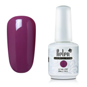 Gel Nail Polish, Belen UV LED Gel Nail Polish Soak Off Nail Art Manicure Pedicure Colour Lacquer 15ml Dark Orchid 1023