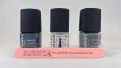 Dr's.Remedy Fifty Shades Of Grey Trio - Soothing Slate, Stability Steel, Basic Basecoat with FREE Dr's Remedy Nail File
