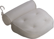 Royal Casa Bath Pillow – Non Slip, Luxury Bathtub Support To Your Head & Neck. Anti-Mould & Waterproof. This Spa Cushion has Extra Large Suction Cups to Guarantee The Best Relaxing Experience. White