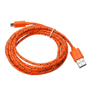 GBSELL 2M Hemp Rope Micro USB Charger Sync Data Cable Cord for Cell Phone