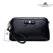 Artemis'Iris Women's 2-In-1 Function Shoulder Bag Clutch Wallet Luxury Leather Handbag Cards Organier Zipper Bow Ladys Long Purse