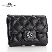 Artemis'Iris Women Plaid Compact Mini Wallet Trifold Handbag Clutch Money Change Cards Holder Organiser Short Purse