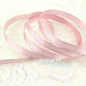 FunnyPicker (25 Yards/Roll ) 6Mm Single Face Satin Ribbon Wholesale Gift Packing Christmas Ribbons Meat Pink