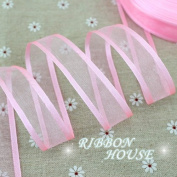 """FunnyPicker (10 Yards/Lot) 3/4""""(20Mm) Broadside Organza Ribbons Wholesale Gift Wrapping Decoration Ribbons Wholesale Pink"""
