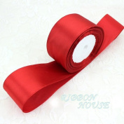 """FunnyPicker (25 Yards/Roll) 2"""" (50Mm) Single Face Satin Ribbon Webbing Decoration Gift Christmas Ribbons Red"""