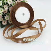 FunnyPicker (25 Yards/Roll) 10Mm Single Face Satin Ribbon Webbing Decaration Gift Christmas Ribbons Coffee