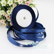 "FunnyPicker (25 Yards/Roll) 3/8"" 10Mm Deep Blue Single Face Satin Ribbon Gift Christmas Ribbonwebbing Decoration Ribbons"