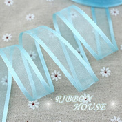 "FunnyPicker (10 Yards/Lot) 3/4""(20Mm) Sky Blue Broadside Organza Ribbons Wholesale Gift Wrapping Decoration Ribbons"